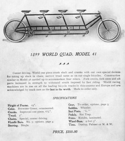 patente bici tandem 1899