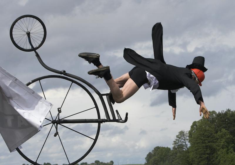 cayendo de la bici